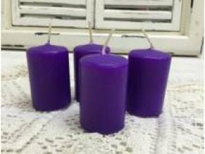 Adventi gyertya lila-pink 4db/csom