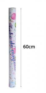 Konfetti kilövő 60 cm ,színes