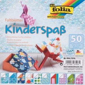 Hajtogatós papír - gyerek örömök, kb.150 x 150 mm, 50 lap