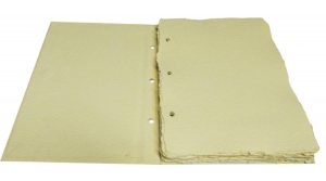 Násztor Papírmalom, merített papír fotóalbum, fűzhető, álló A/5, 20 lapos, bézs