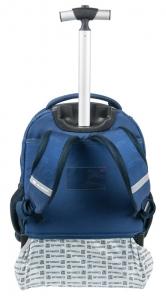 Focis gurulós hátizsák, táska, 51x31x20cm, kék, Paso