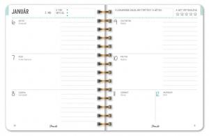 Spirálozott naptár, heti B5, Jungel Boogie 2020
