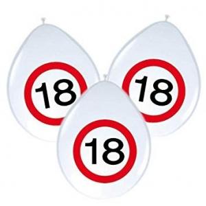"""""""18"""" Szám gumi lufi, fehér színű"""