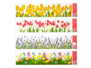 Ablakmatrica csík, virágok 64x15