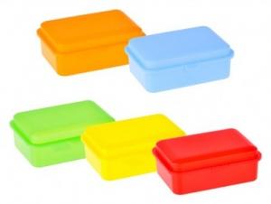 Uzsonnás doboz vegyes színekben