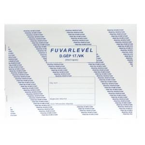 Fuvarlevél PR. A/4 (50x3) D.GÉPJ.17/V