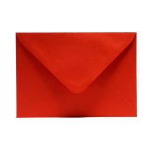 Színes boríték LC/6 enyvezett élénk piros