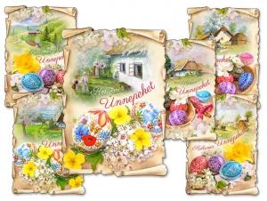 Képeslapok Húsvét 097 C Vágott