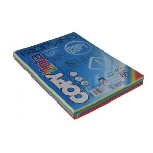 Sz.fénymásolópapír FABRIANO A/4 200g mix élénk színek