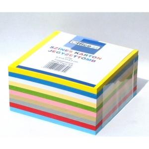 Tépőtömb OFFICE 21 (9,5x9,5x4,5cm) színes 225g-os kartonból