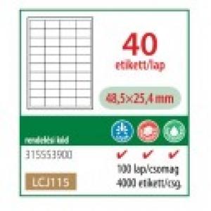 Etikett cimke OFFICE 21 48,5x25,4 univerzális LCJ115