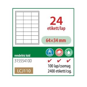 Etikett cimke OFFICE 21 64x34 univerzális LCJ110