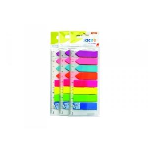 Jelölőcímke STICK`N (12x45+12x42) 8x25 címke neon színek