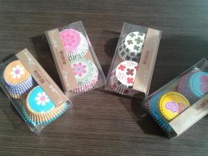 Muffin papír mintás, színes vegyesen