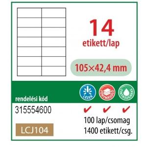 Etikett cimke OFFICE 21 105x42,4 univerzáli LCJ 104