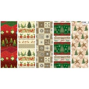 Díszcsomagoló POLMAK (70x200) 60g tekercses karácsonyi általános mintás P2GW1,W4,W5