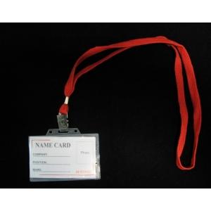 Névjegykitűző H-TONE (92x59) nyakbaakasztós PVC (fekvő + nyakpánt)