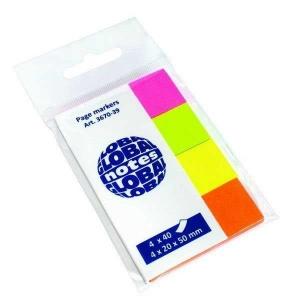 Jelölőcímke GLOBAL (20x50) 4 neon szín