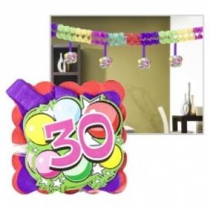 Számos girland 30. születésnapra