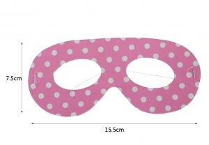 Rózsaszín pöttyös szemüveg,álarc
