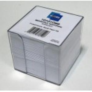 Tépőtömb műanyag tartóval  - (9x9x8,5 cm) fehér lapokkal