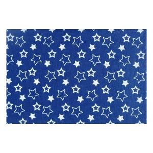 Filclap puha A/4 (1mm) mintás kék csillagos