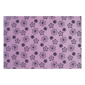 Filclap puha A/4 (1mm) mintás lila virágok