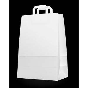 Papírtáska szalagfüles 32-es (32x43x17) fehér