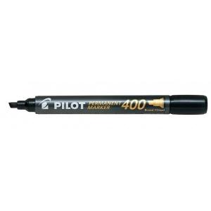Marker permanent PILOT 400 (4mm) vágott végű fekete