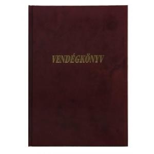 Vendégkönyv A/4 plüss arany felirattal vegyes színben