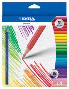 Színes ceruza készlet/24 LYRA GROOVE Slim hegyezővel 2821240