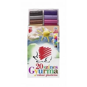 Gyurma ICO Süni színes 20 színű 400g