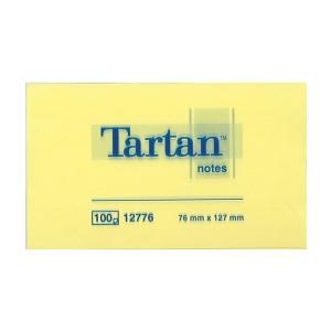 Öntapadós jegyzet TARTAN 76X127 sárga 89300070