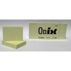 Öntapadós jegyzet ONIX/GLOBAL 38X51 /40X50 sárga /db-ár 89160070