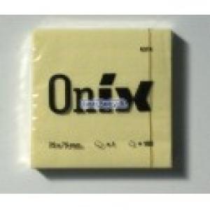 Öntapadós jegyzet ONIX /GLOBAL 75x75 sárga 100lapos