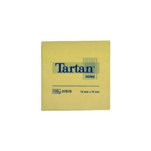 Öntapadós jegyzet TARTAN 76X76 sárga