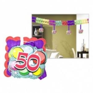 Számos girland 50. születésnapra