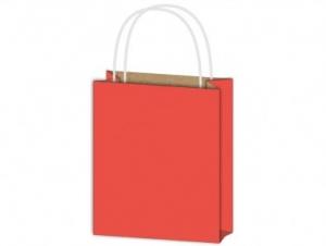 Dísztasak papír piros 180x230x100