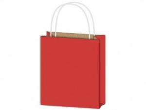 Dísztasak papír piros 260x320x100