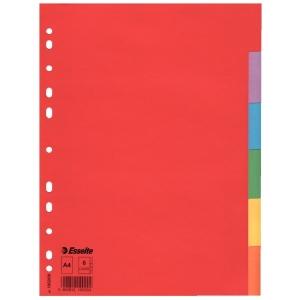 Elválasztólap ESSELTE A/4 karton színes 10lap/csg