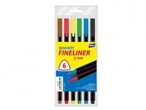 Tűfilc készlet FL 6 szín 0,7mm háromszögű