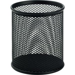 Írószertartó pohár (9cm)fém rácsos fekete