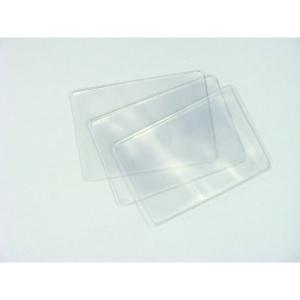 Bankkártyatok (100x60mm) vékony PVC hosszabbik oldalon nyitott