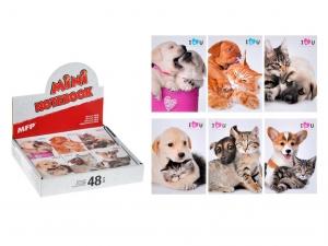 Jegyzettömb MFP, kutya-cica 83x60-40 lapos
