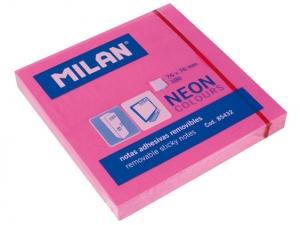 Öntapadó jegyzettömb MILAN 75x75mm, 80 lapos PINK