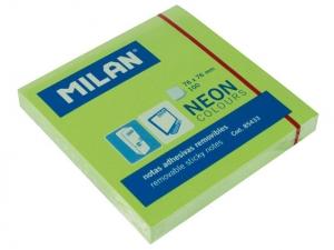 Öntapadós  jegyzettömb MILAN 75x75mm, 80 lapos Zöld