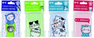 Öntapadó jegyzettömb M&G Cats, 76x51 mm, 100 lap