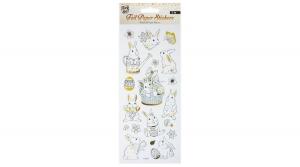 Matrica 10x23cm fólia papír húsvéti, 1ív/bliszter, arany dekor