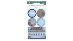Matrica rizspapír-washi pillangó-virág 2ív/bliszter