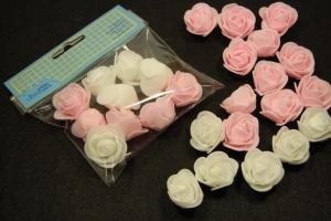 Mini rózsa 10db/cs fehér, rózsaszín